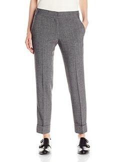 James Jeans Women's Cuffed Trouser, Dark Grey Plaid, 29