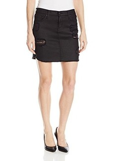 James Jeans Women's Daisy Scalloped Hem Cut-Off Skirt In Vintage Jeather