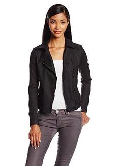 James Jeans Women's Denim Motorcycle Jacket