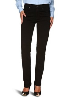 James Jeans Women's Hunter High Rise Straight Leg in Black Clean