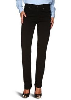 James Jeans Women's Hunter High Rise Straight Leg in Black Clean