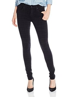 James Jeans Women's James Twiggy, Slate Plaid, 25
