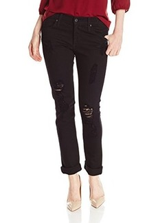 James Jeans Women's Neo Beau, Destroyed Black, 32