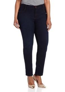 James Jeans Women's Plus-Size Leggy Z Faux-Front Pocket Legging in 7887 Dark