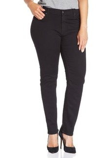James Jeans Women's Plus-Size Twiggy Z Five-Pocket Skinny Jean in Black Clean