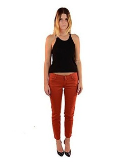 James Jeans Women's Skinny Jean, Terra Cotta, 25