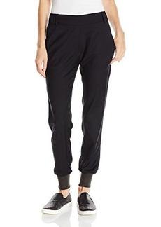 James Jeans Women's Track Pants, Silky Blue/Black, 31