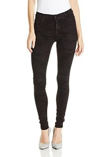 James Jeans Women's Twiggy Dancer Seamless Side Yoga Legging Jean In Blue Velvet