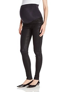 James Jeans Women's Twiggy External Maternity Band Legging Jean In Oil Slicked