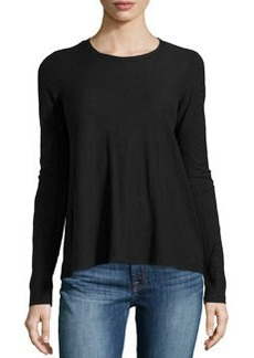 James Perse A-Line Long-Sleeve Tee, Black