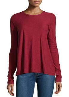 James Perse A-Line Long-Sleeve Tee, Fortune