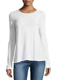 James Perse A-Line Long-Sleeve Tee, White