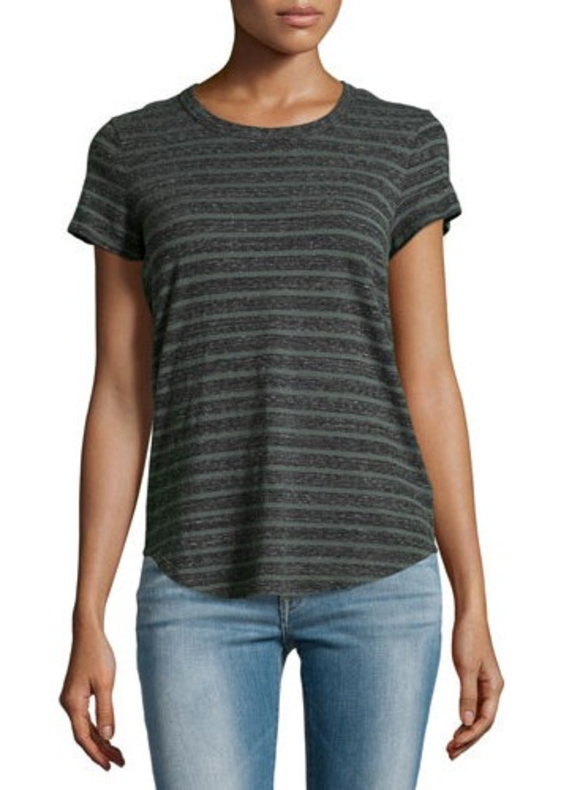 James perse argyle striped cotton jersey tee for James perse t shirts sale