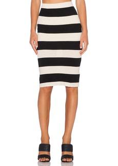 James Perse Bar Stripe Pencil Skirt