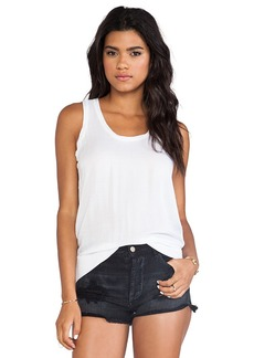 James Perse Blouson Chiffon Tank in White