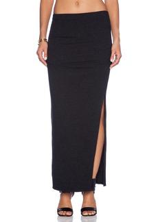 James Perse Brushed Jersey Long Split Skirt