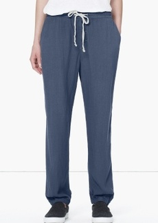 James Perse BUTTON FLY LINEN CREPE PANT