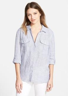 James Perse Button Front Linen Shirt