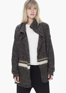 James Perse BUTTONLESS TURTLE NECK CARDIGAN