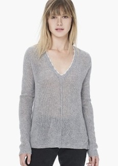 James Perse CASHMERE BASKET STITCH SWEATER