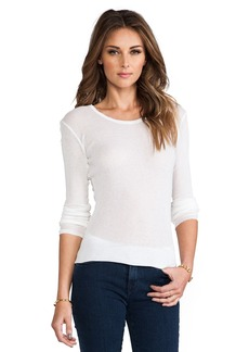 James Perse Cashmere Rib Long Sleeve Crew