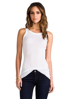 James Perse Cashmere Rib Tank in White