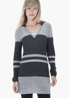 James Perse CASHMERE STRIPED HOODIE TUNIC