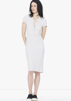 James Perse CATIONIC DYED HENLEY DRESS