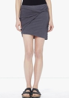 James Perse CATIONIC DYED TWISTED MINI SKIRT