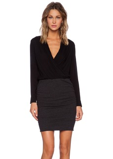 James Perse Collage Wrap Dress