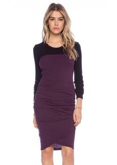 James Perse Colorblock Wrap Skirt Dress