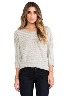James Perse Colorblocked Breton Sweat Top in Gray
