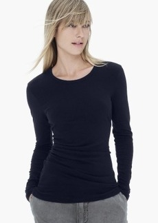 James Perse COTTON CASHMERE TUCKED TOP