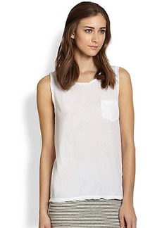 James Perse Cotton Jersey Muscle Tee