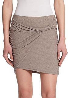 James Perse Slub Jersey Twisted Mini Skirt