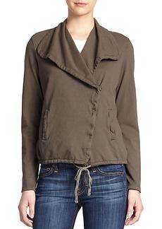 James Perse Cotton Twill Moto Jacket
