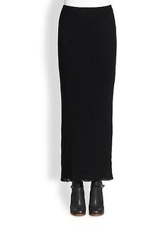 James Perse Cotton/Cashmere Knit Maxi Skirt