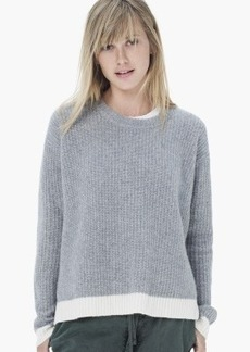James Perse CROPPED RIBBED CASHMERE SWEATER