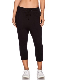 James Perse Cropped Slouchy Sweatpant