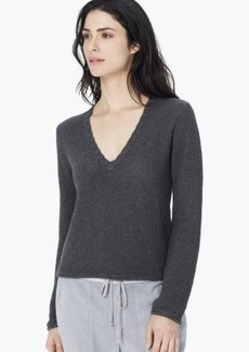 James Perse CROPPED V-NECK SWEATER