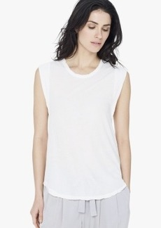 James Perse CURVED HEM MUSCLE TANK
