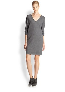 James Perse Dolman-Sleeved Cotton Knit Dress
