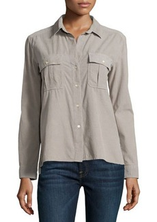James Perse Double-Pocket Button-Up Shirt