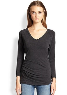 James Perse Draped-Fold Jersey Tee