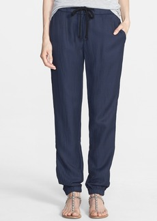 James Perse Draped Twill Sweatpants
