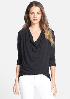 James Perse Drapey Crepe Jersey Top