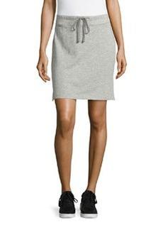 James Perse Drawstring Fleece Skirt, Heather Gray