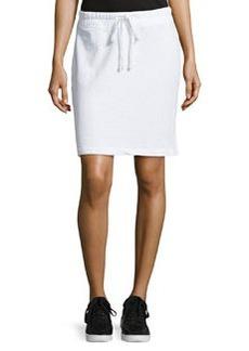 James Perse Drawstring Fleece Skirt, White