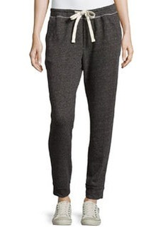James Perse Drawstring Terry Cloth Sweatpants, Charcoal