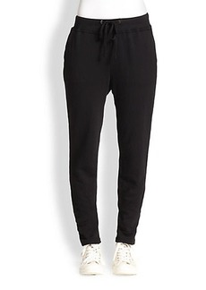 James Perse Dropped-Rise Cotton Skinny Sweatpants
